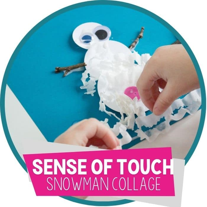 sense of touch snowman collage for winter featured image