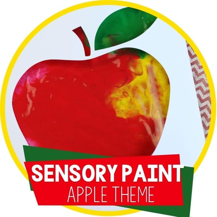 Apple Theme Mess Free Finger Painting in a Bag