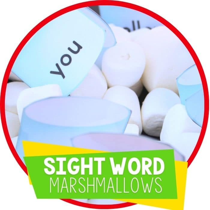 Marshmallow Sight Words Free Printable and Sensory Bin