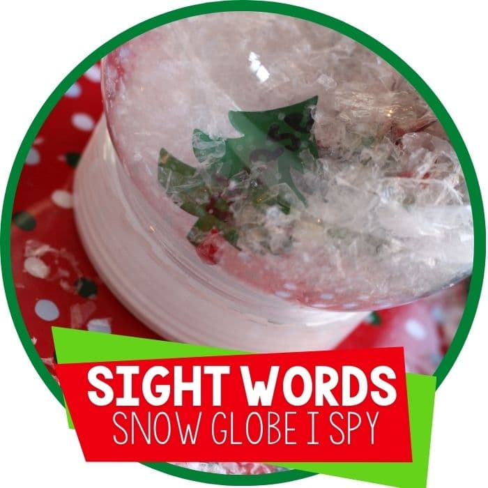 Sight Word Snow Globe for Word Work