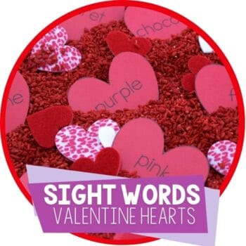 sight words valentine theme sight word read and write activity for kindergarten