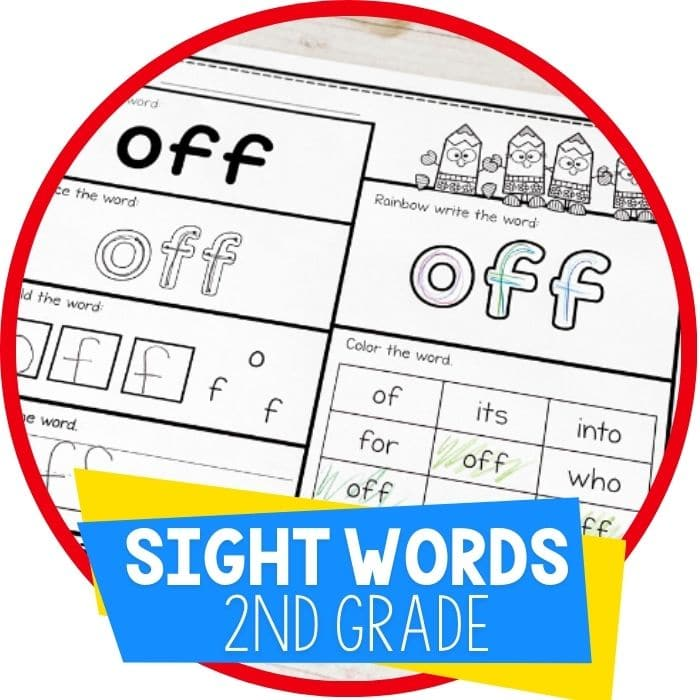 Free Printable Second Grade Sight Words Worksheets