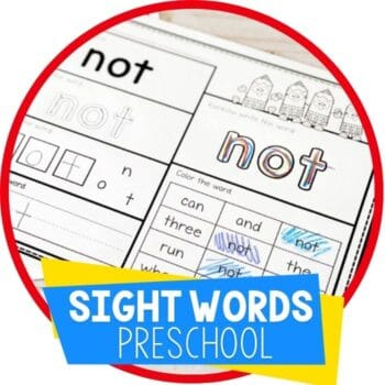 Pre-primer preschool sight word worksheets. Practice sight words with your preschoolers using these fun sight word worksheets!