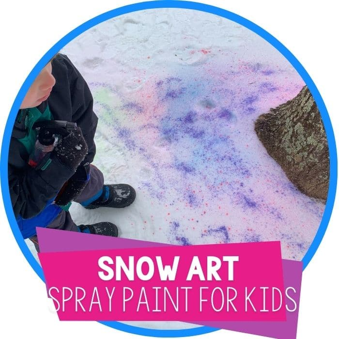 Snow Spray Paint Winter Art Projects for Preschoolers