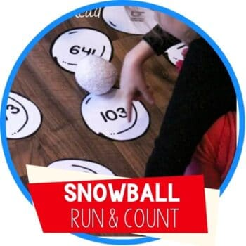 snowball place value run and count math game featured image