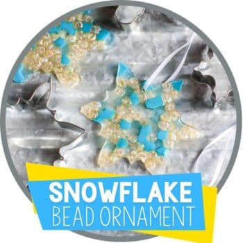 melted bead snowflake ornament for winter Featured Image