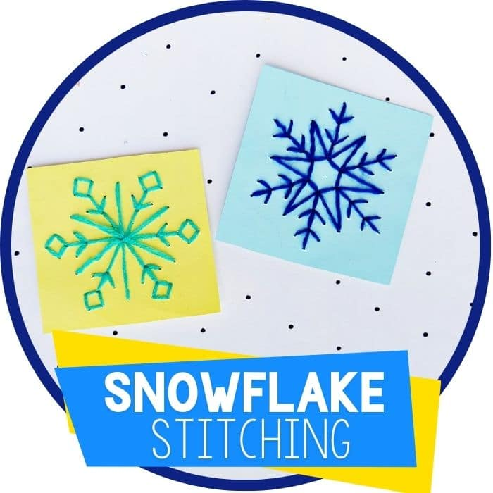 Snowflake Stitching Fine Motor Craft for Kids
