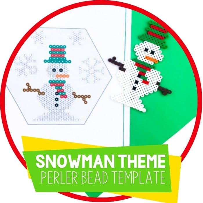 Free Snowman Perler Beads Patterns for Kids