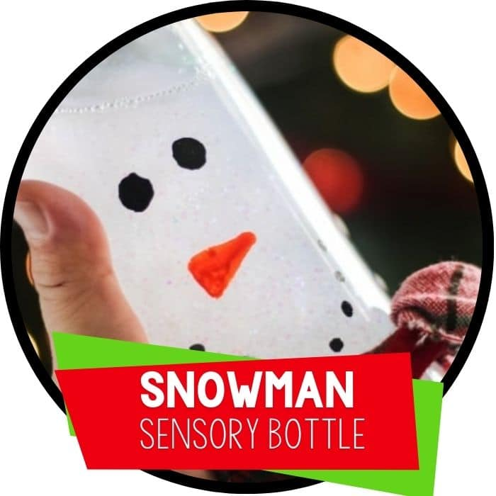 Snowman Sensory Bottles DIY for Preschoolers