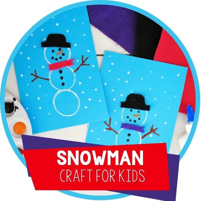 Easy DIY Snowman Crafts for Kindergarten and Preschool featured image.