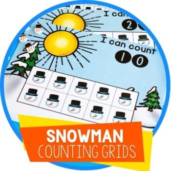 snowman winter counting grids featured image