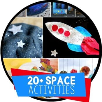 space theme activities for kids featured image