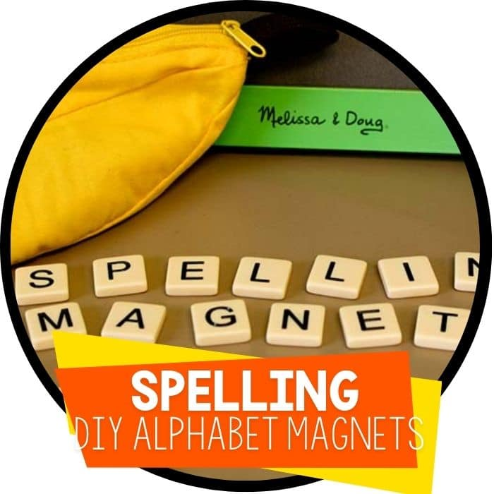 DIY Alphabet Magnets for Spelling Activities