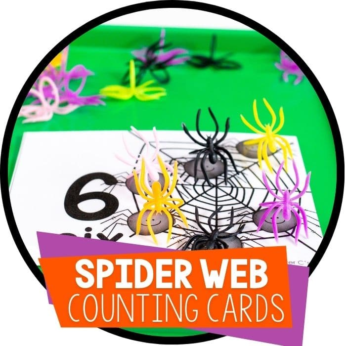 Printable Spider Counting Cards for Preschool