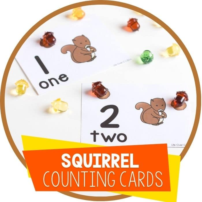 squirrel fall counting cards 1-10 featured image