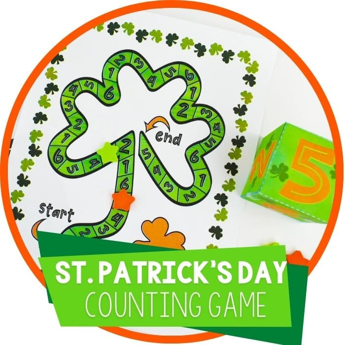 St. Patrick's Day Math Activities Board Game Featured image