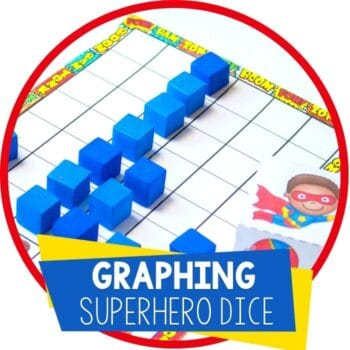 superhero graphing printable dice Featured Image