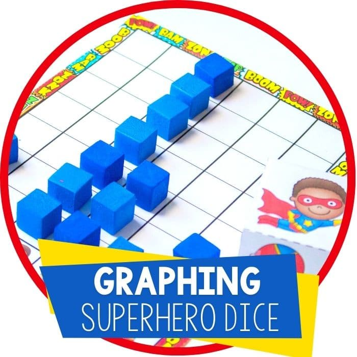 Superhero Graphing Set Free Printable