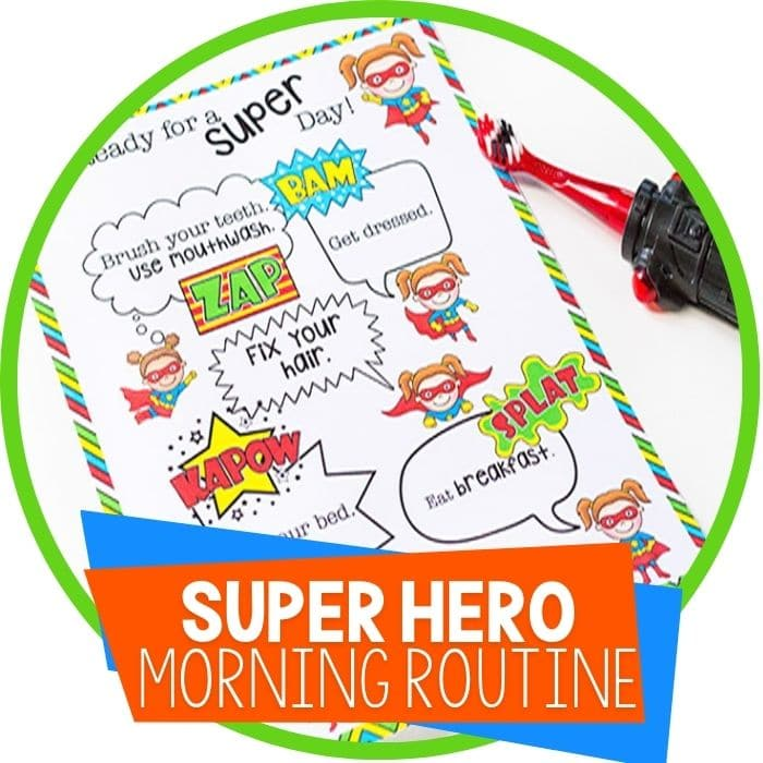 Superhero Morning Routine Printable for Kids