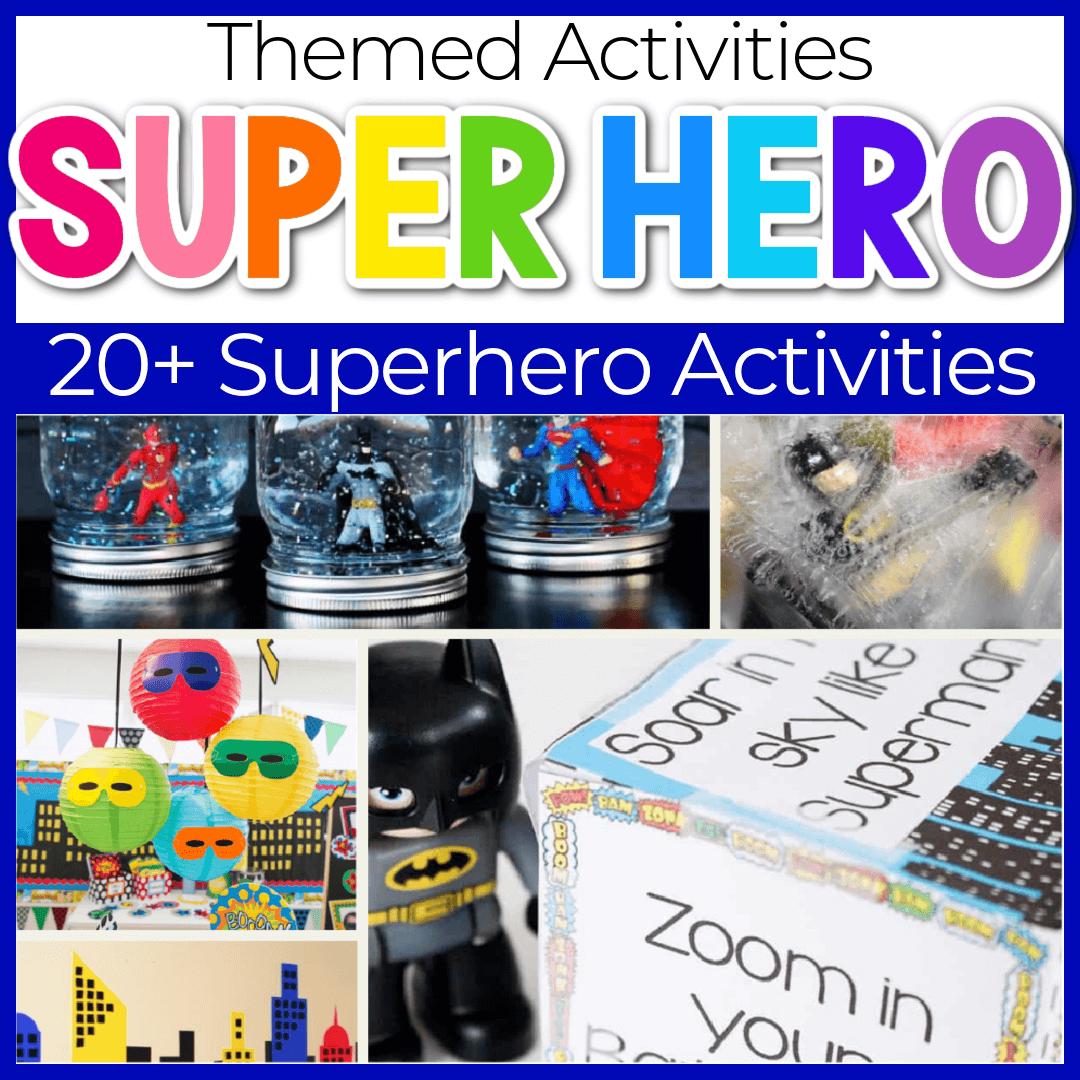 Kindergarten and Preschool Superhero Themed Activities