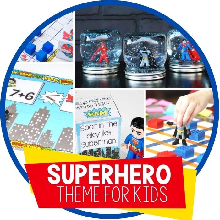 Kindergarten and Preschool Superhero Themed Activities