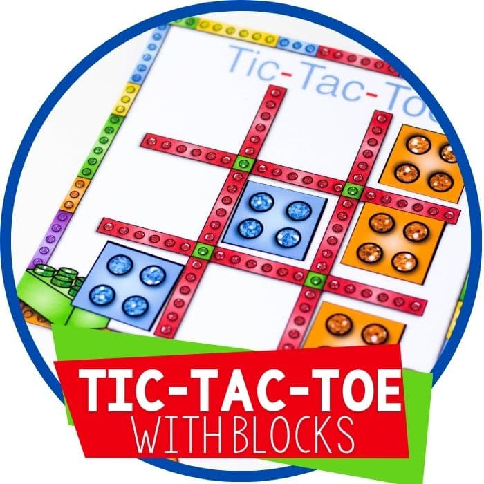 Free Printable Tic Tac Toe for DUPLO