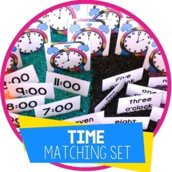 time matching set for sensory bin featured image