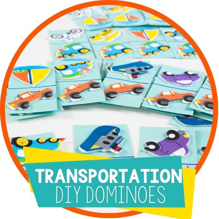 transportation theme dominoes diy Featured Image