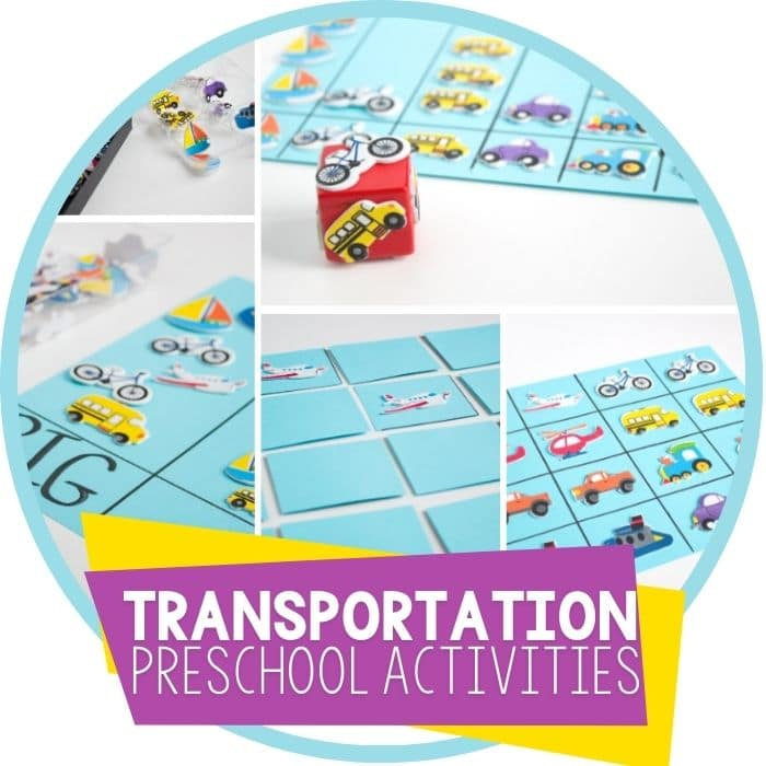 transportation theme preschool activities with stickers Featured Image