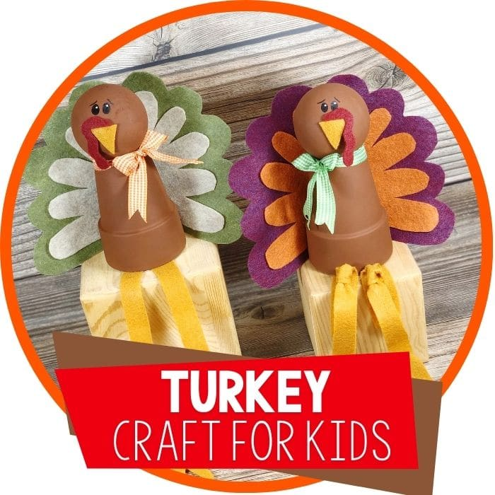 Felt Turkeys: Clay Pot Turkey Craft for Kids