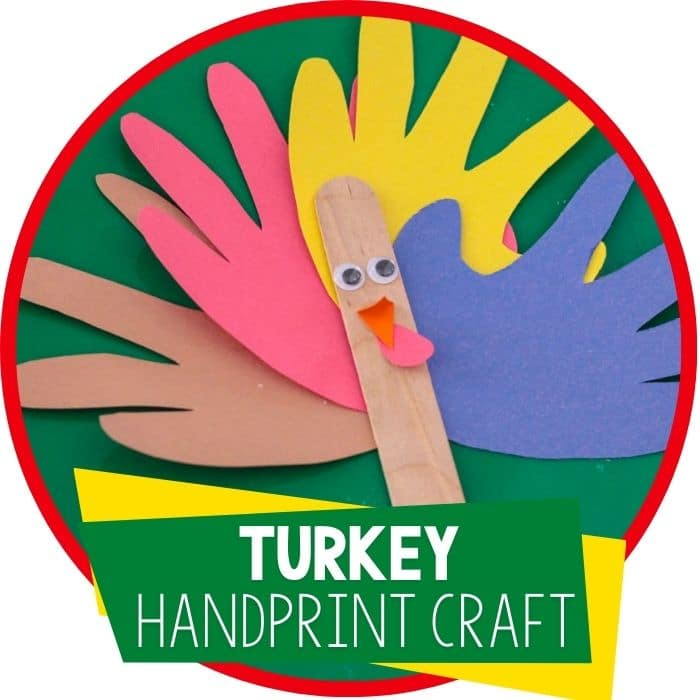 Handprint Turkey Puppet Craft