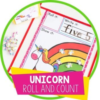 unicorn and rainbow roll and count featured image