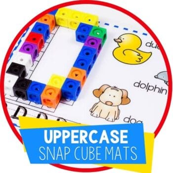 uppercase alphabet snap cube mats featured image