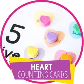 Valentine's day conversation heart counting card featured image