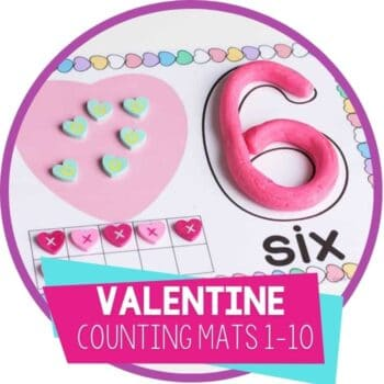 valentine counting mats 1-10 featured image