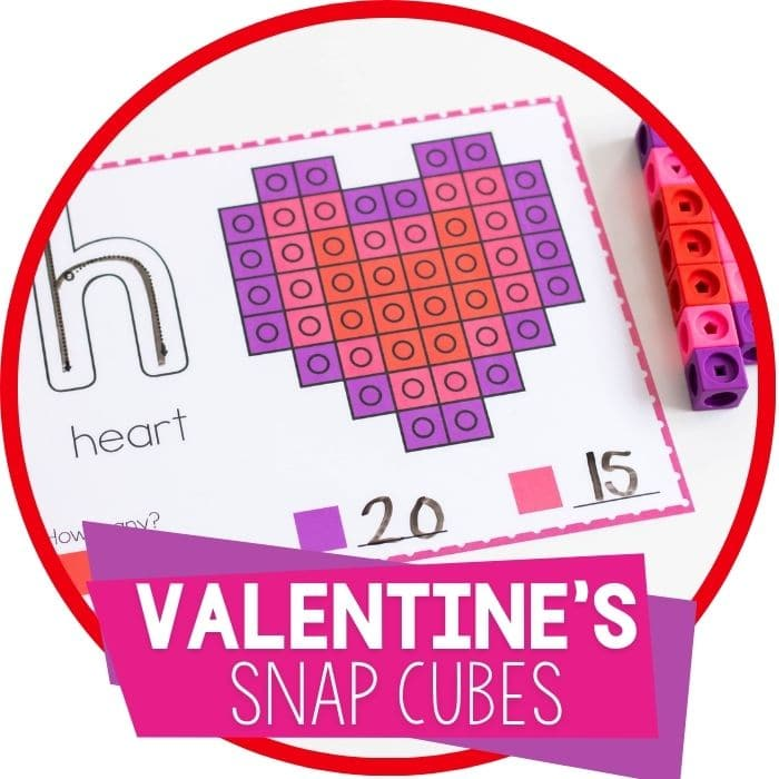 free printable Valentine's day snap cube template set Featured Image