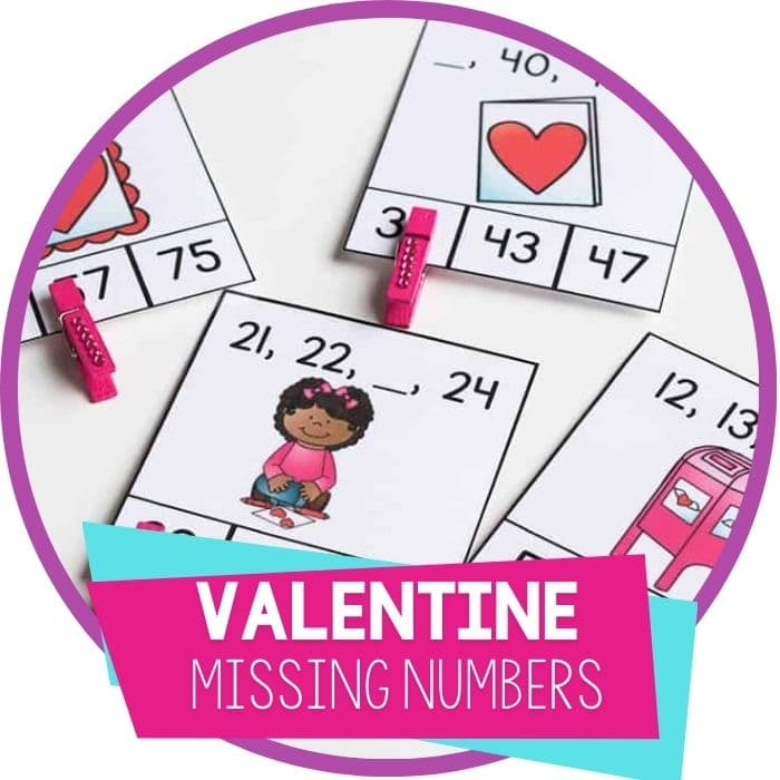 valentine missing number clip cards for kindergarten featured image