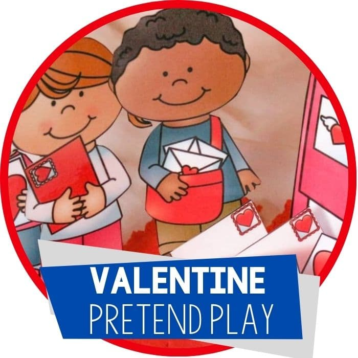Free Play Dough Printable for Valentine's Day