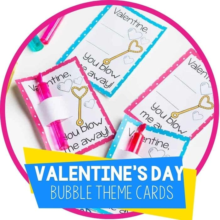 Free printable Valentines cards for kids Bubble wand Valentine's cards for kids