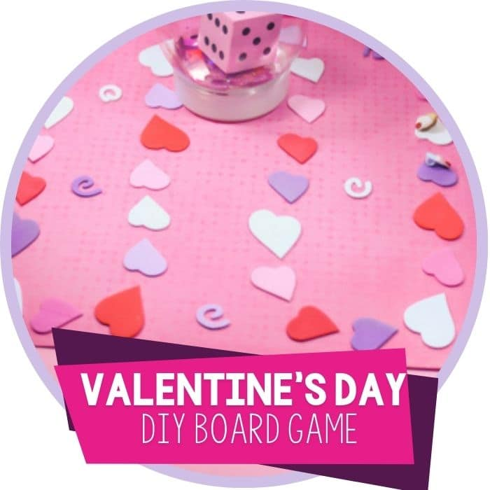 Valentine's Day DIY Board Game for Preschoolers
