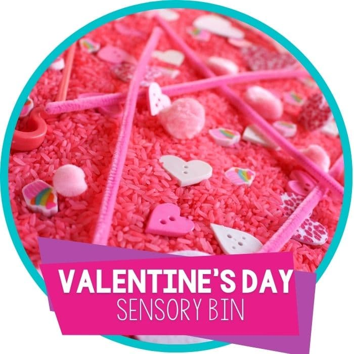 Pretty Pink Sensory Bin for Valentine's Day
