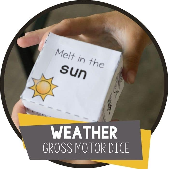 weather gross motor brain break dice for kids featured image
