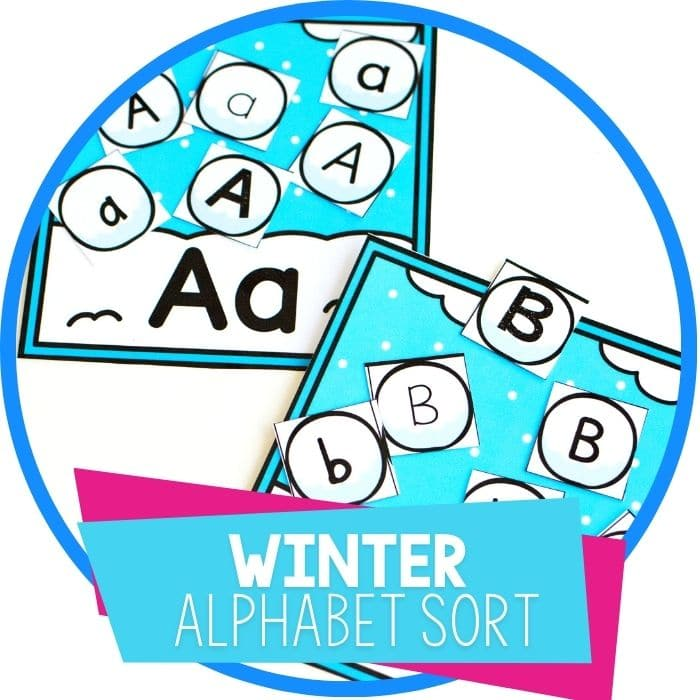 winter alphabet sort snowballs featured image
