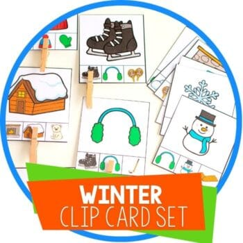 winter clip card matching set featured image