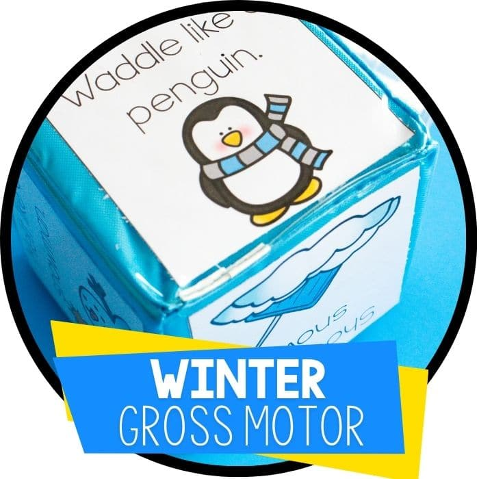 winter gross motor brain break featured image