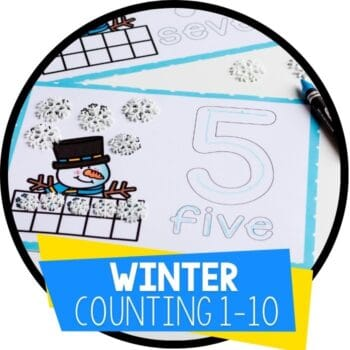winter number counting mats snowman featured image
