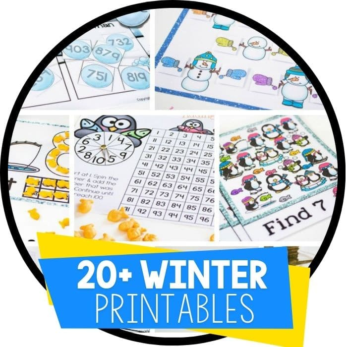 winter printables round up Featured Image
