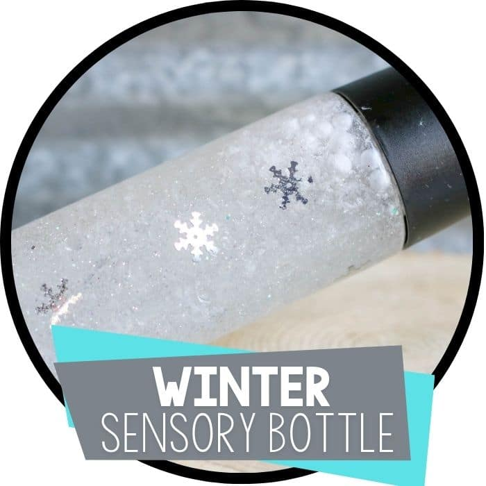 Snowflake Sensory Bottle for preschoolers.