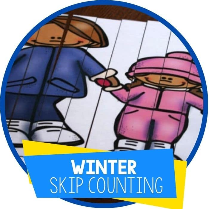 winter skip counting puzzles featured image