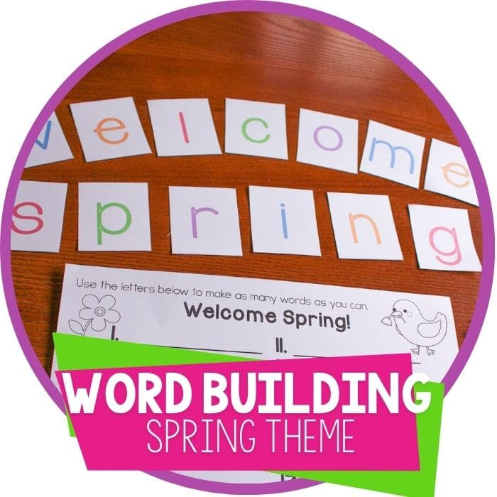 Free Printable Spring Create-a-Word Activity